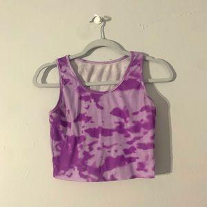 Purple Tie Dye Tank Top